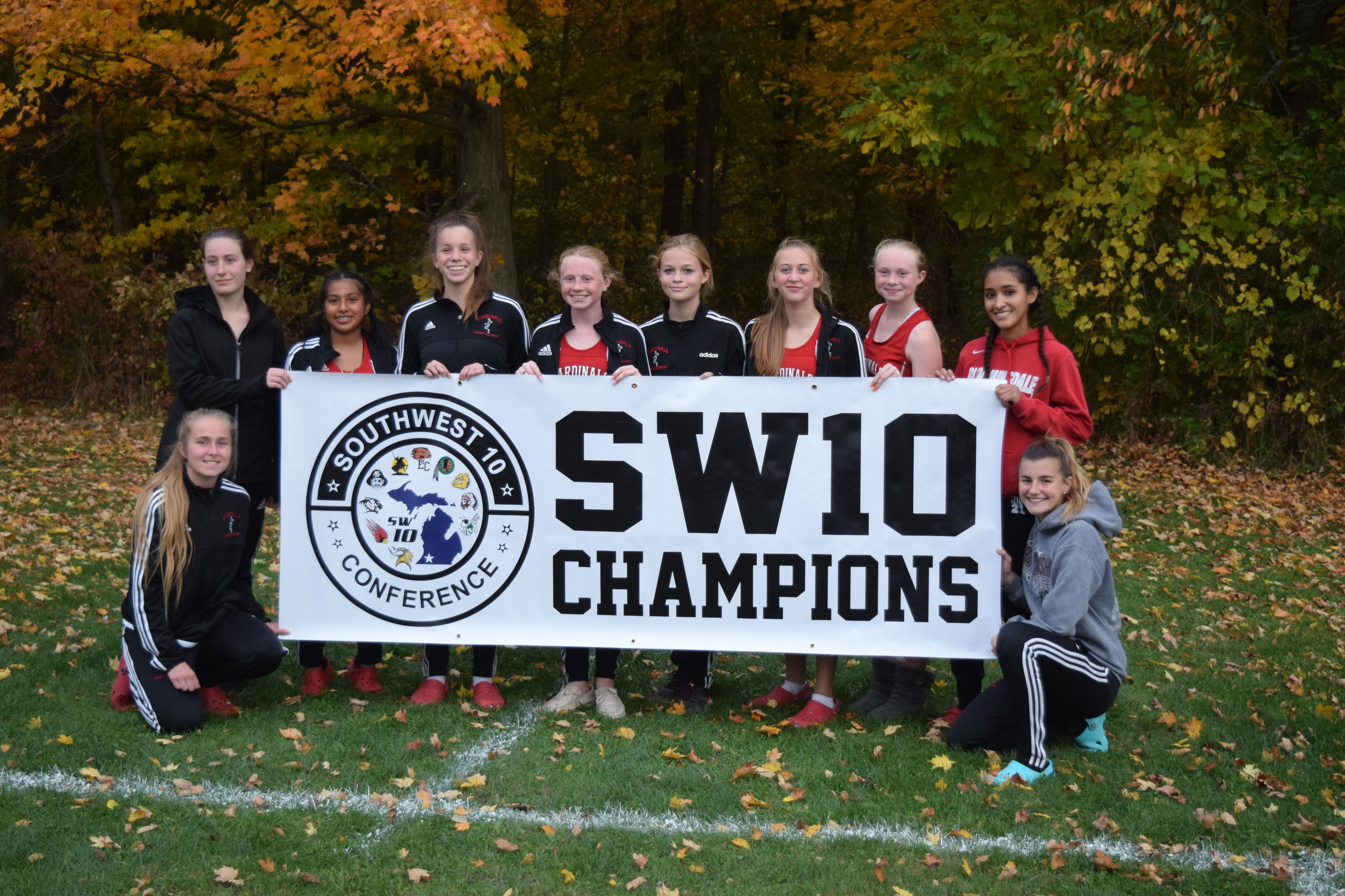 A picture of the team after the Southwest Conference Championship