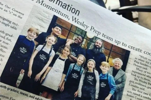 Wesley Prep Common Table in Dallas Morning News