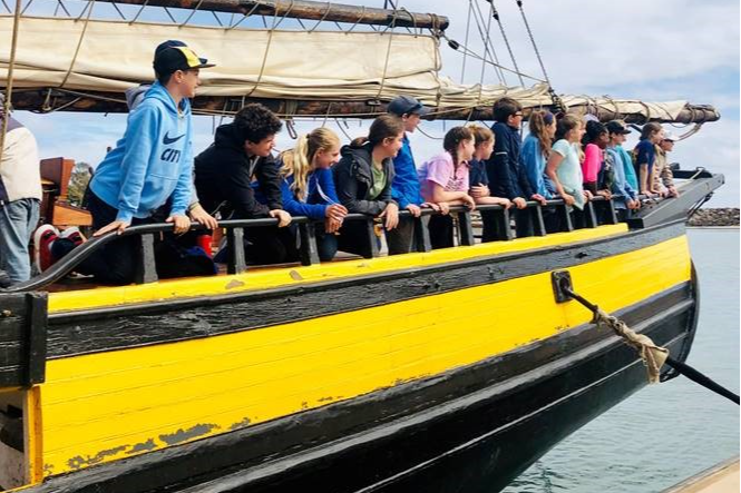 Wesley Prep Sixth Graders Experience a Tall Ship in California
