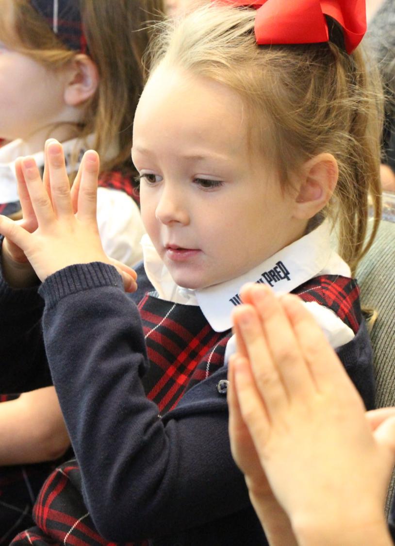 Girl student praying