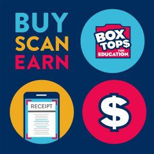 Box Tops for Education Community Partner Program Logo Buy Scan Earn