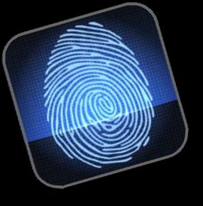 Fingerprinting logo