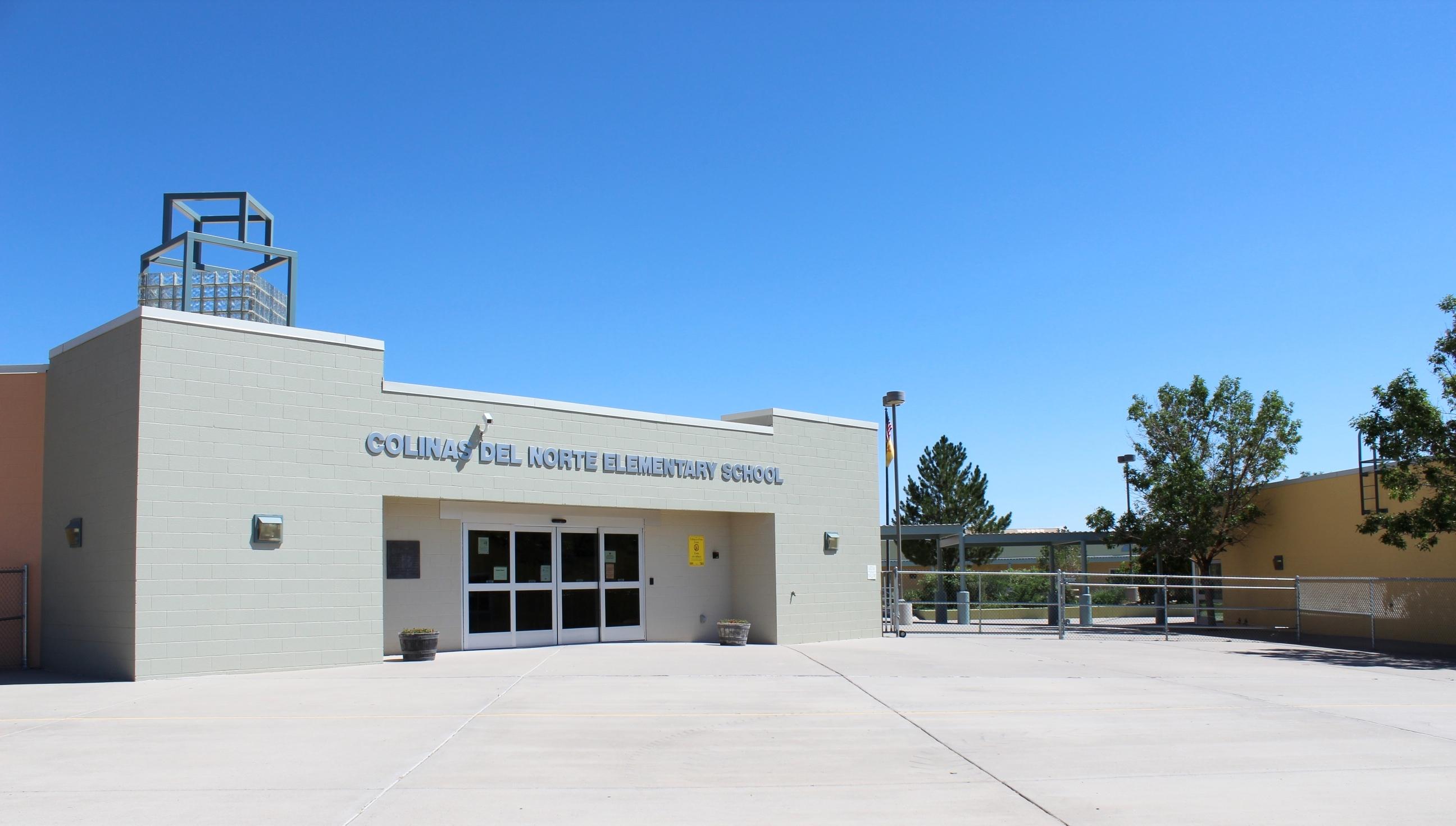 Entrance to Colinas del Norte Elementary School