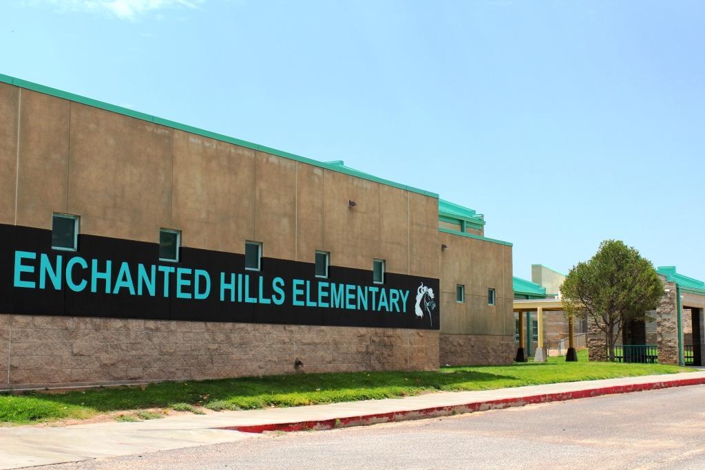 Enchanted Hills Elementary School sign
