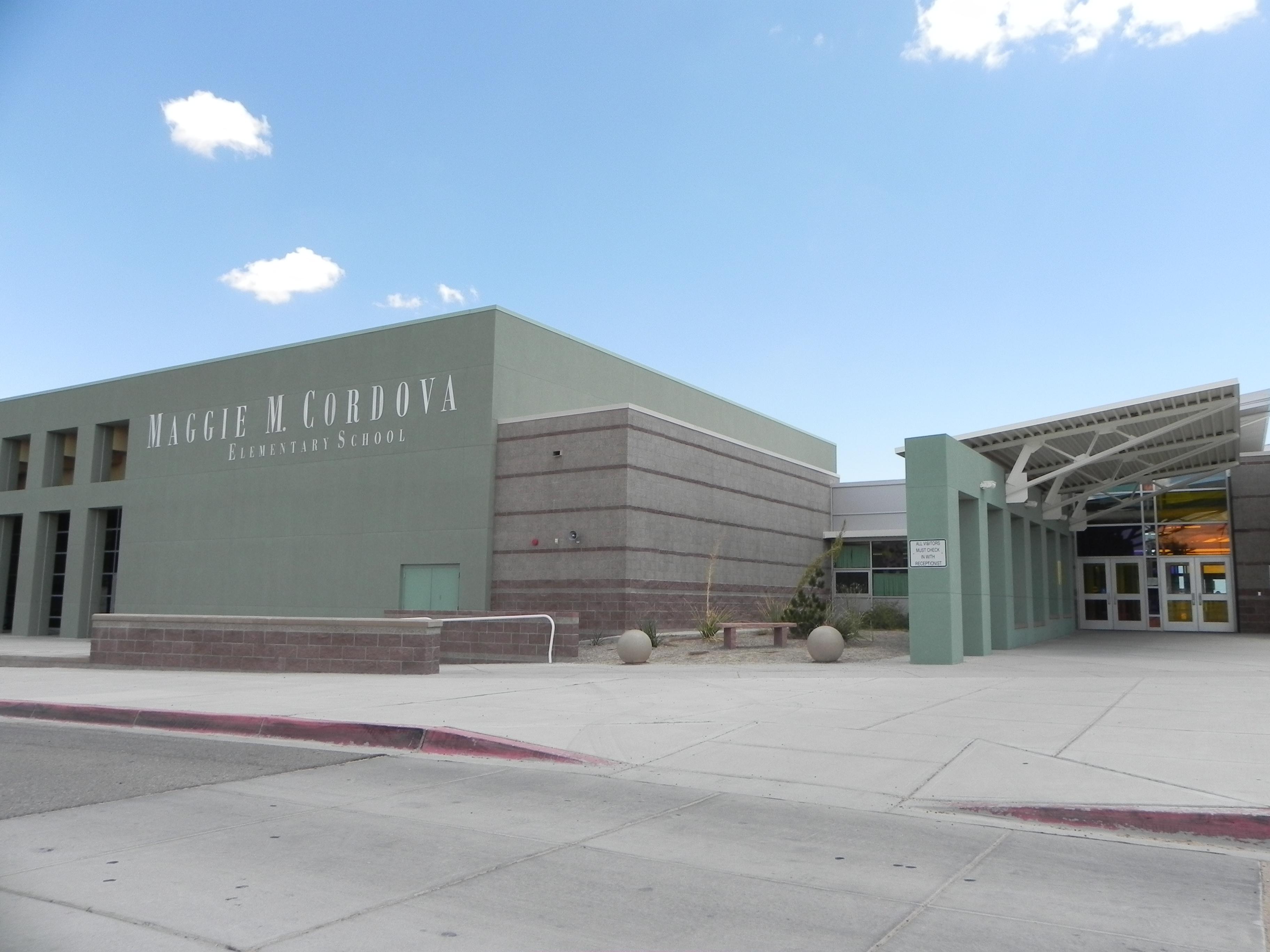 Entrance to Maggie Cordova Elementary School