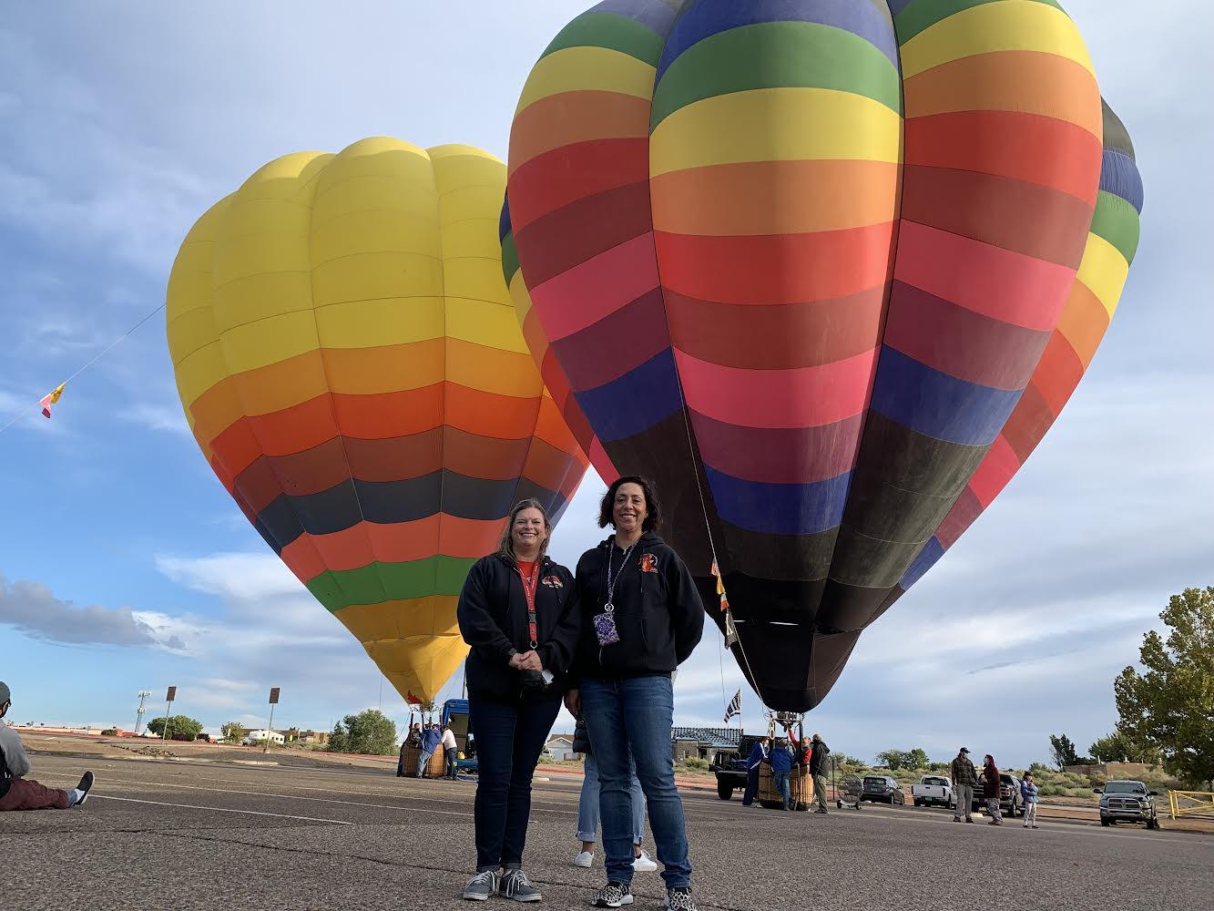 Principal Stephanie Nieto and Assistant Principal Hollie Zamora enjoy the 2021 Balloons Aloft event