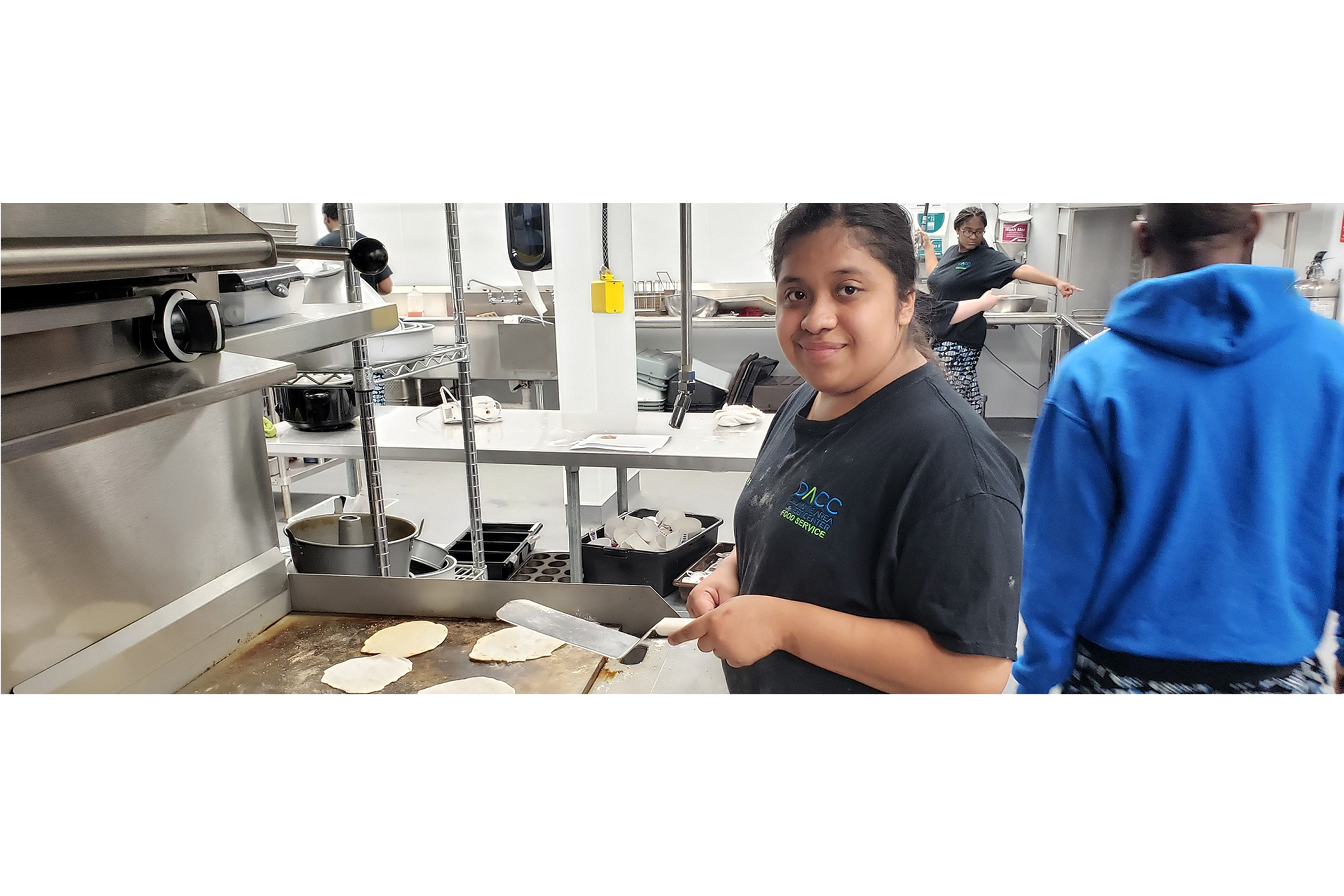 Food Service Student Cooking