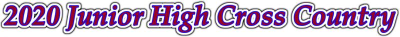 2020 Junior High Cross Country