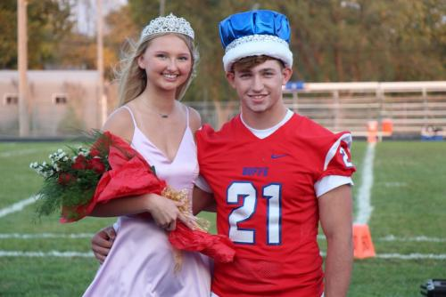 Congratulations Queen Gracie Rhine and King Jared Baxa!