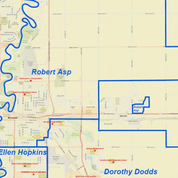 attendance area map