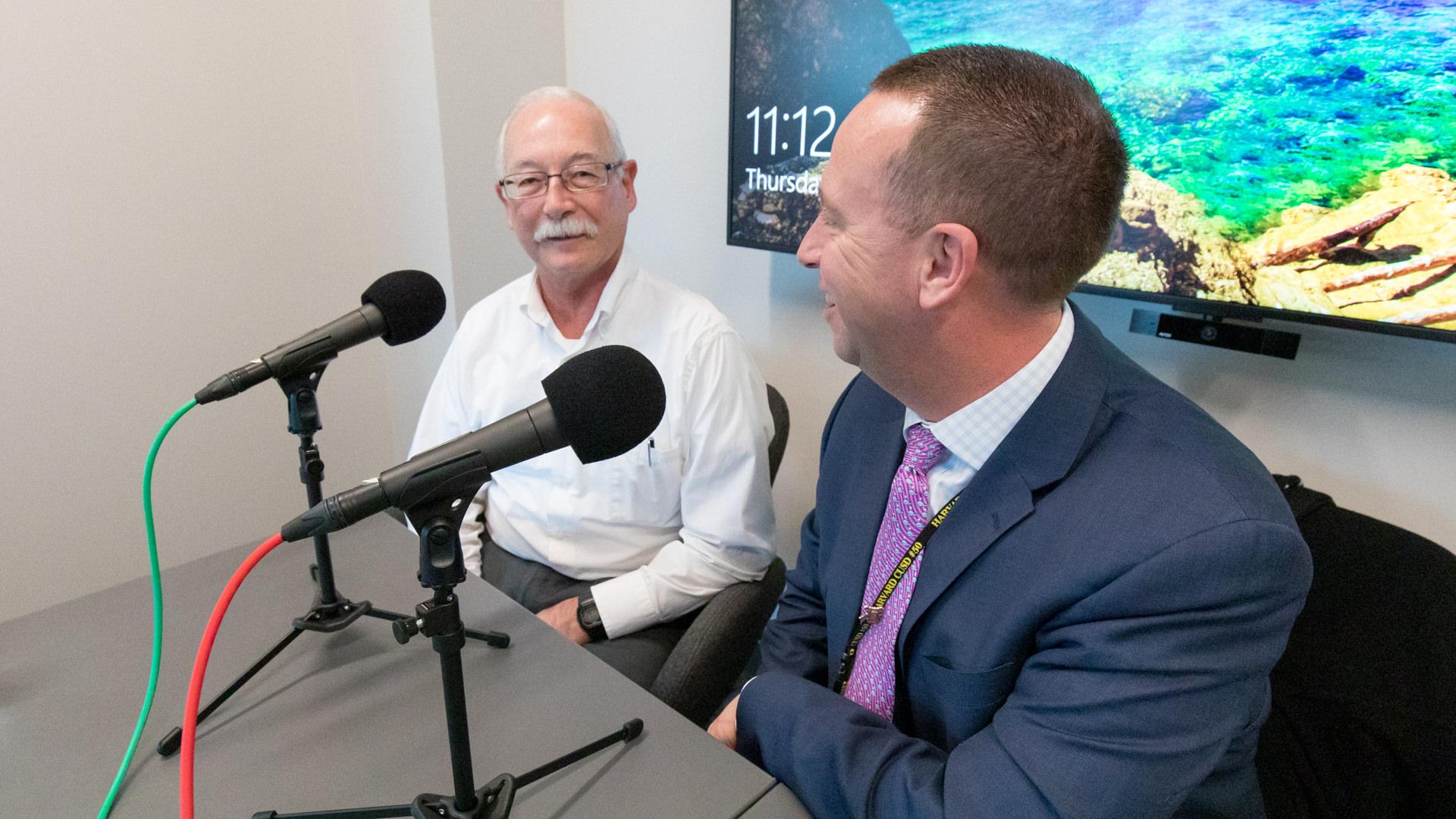 Wold architect John Maurer talks with Dr. Corey Tafoya.