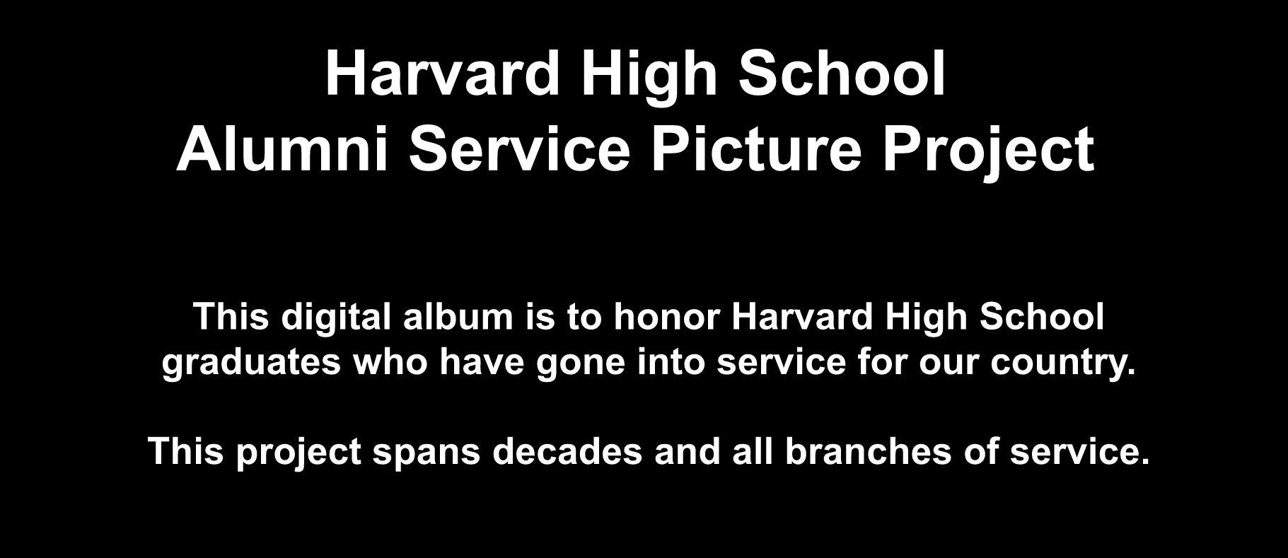 HHS Alumni Service Picture Project