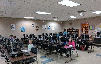 Code Crackers working hard to get their projects just right!