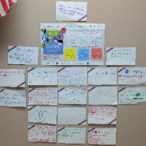 """Shout-Outs Code Crackers learn about digital citizenship, responsibility, & gratitude by """"posting"""" these """"shout-outs"""" to the Club's social media wall."""