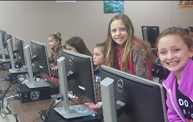 Students at Hour of Code