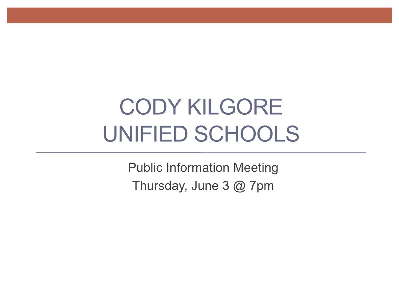 June 3 Public Meeting Presentation