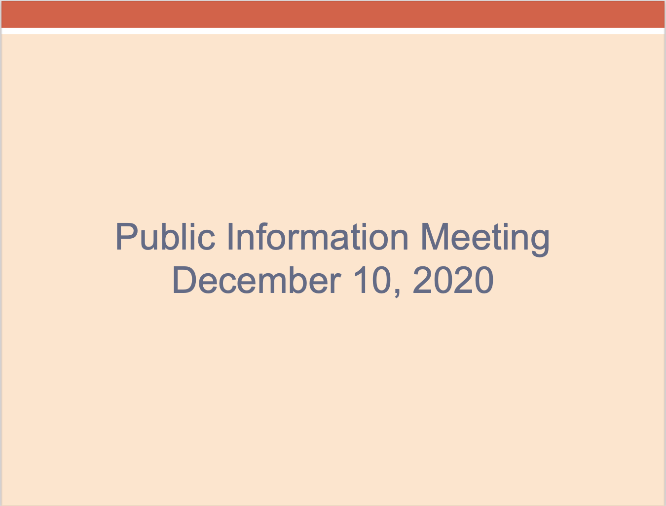 Town Info Meeting Slide