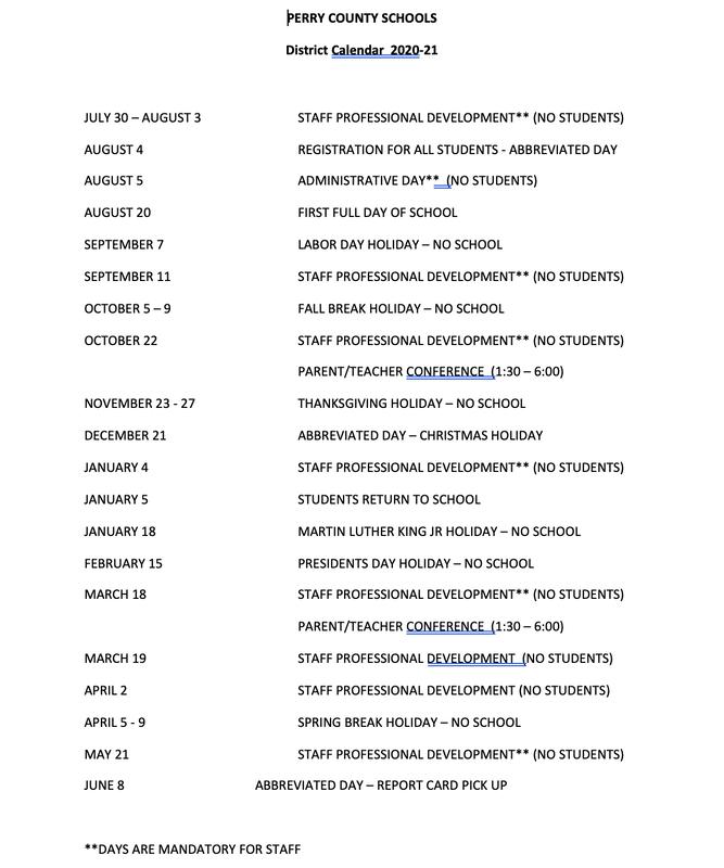 Calendar and Grading Periods