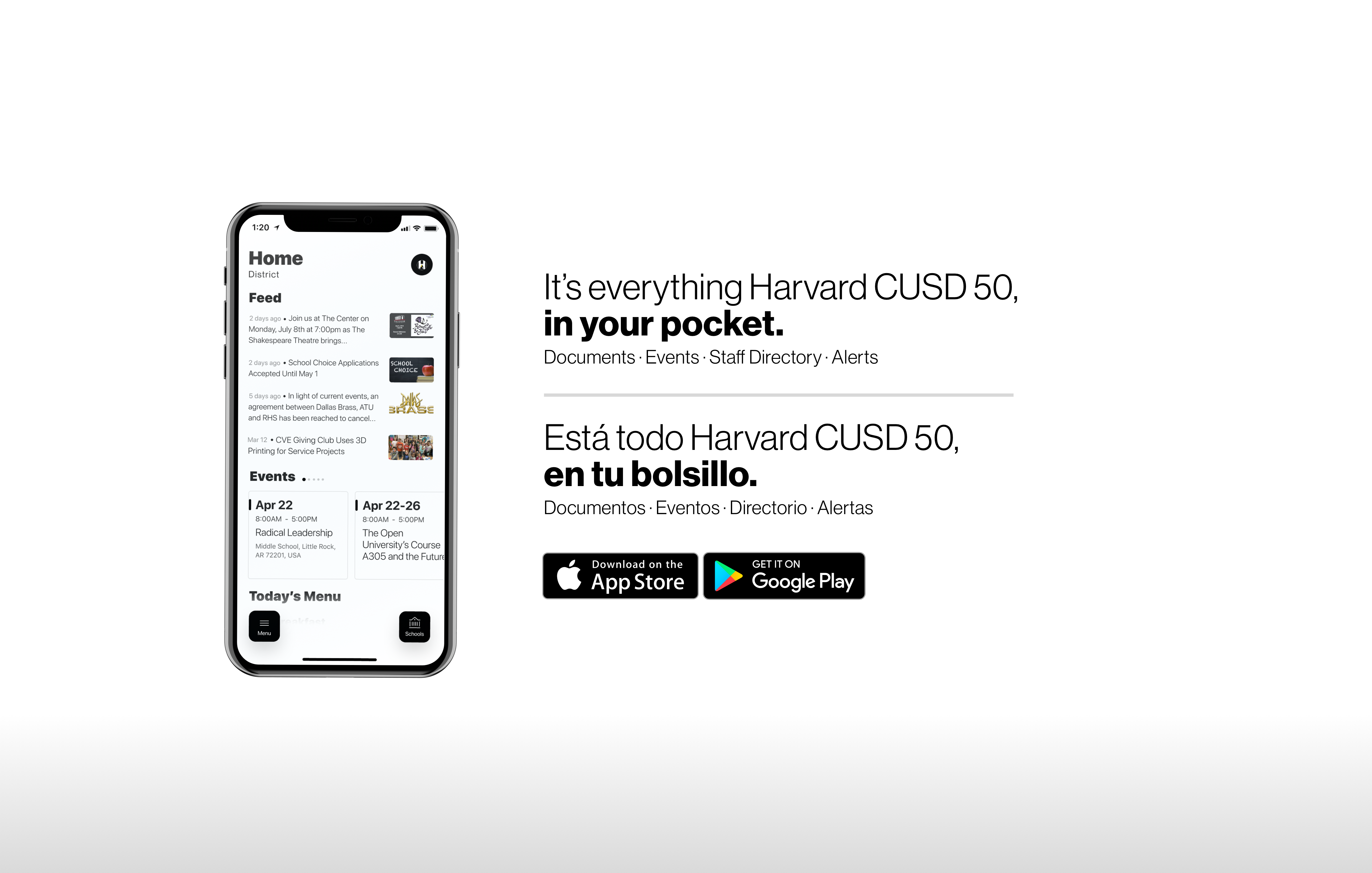 We have a new app, Harvard CUSD 50