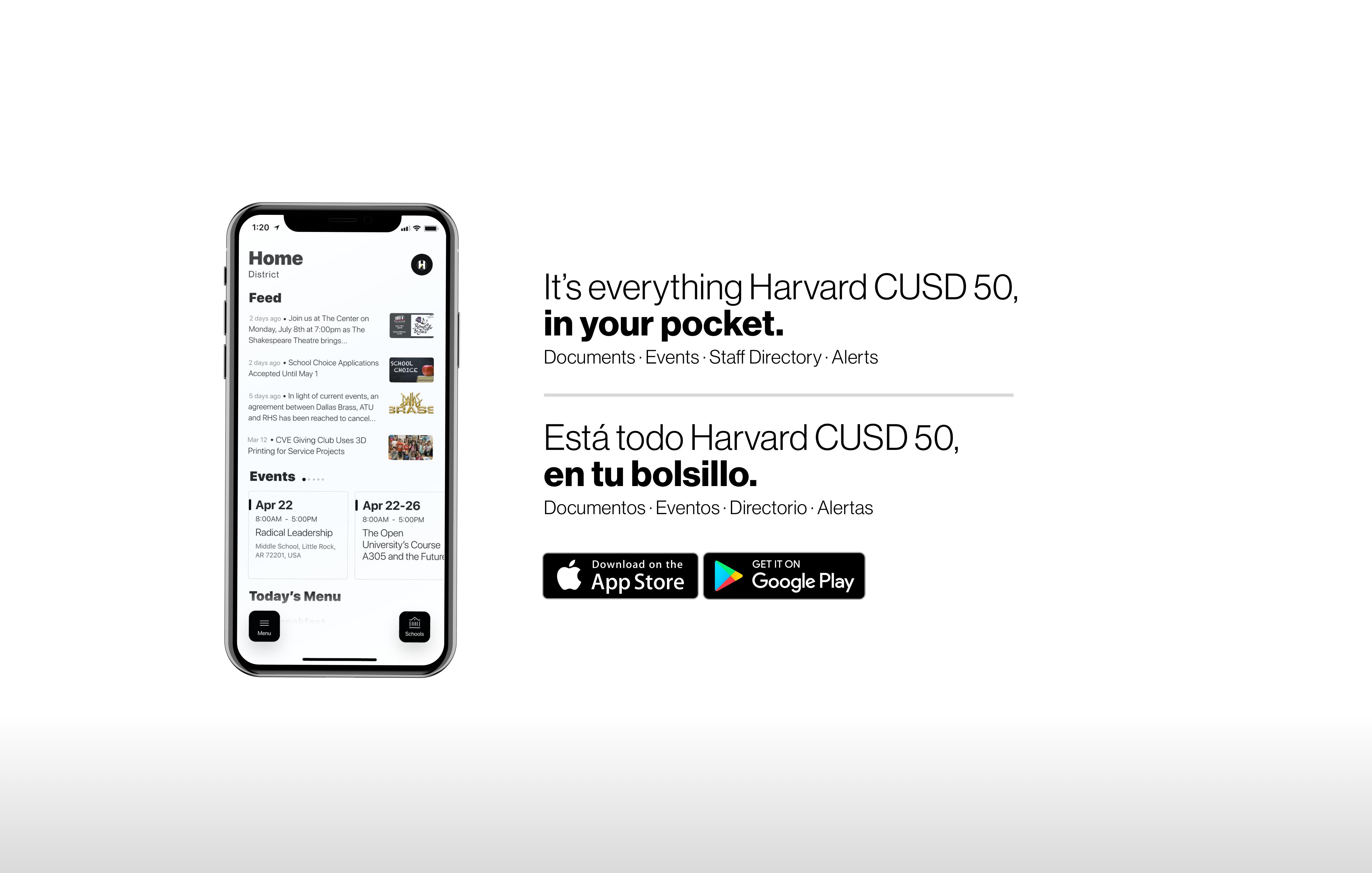 We have a new app, Harvard CUSD 50