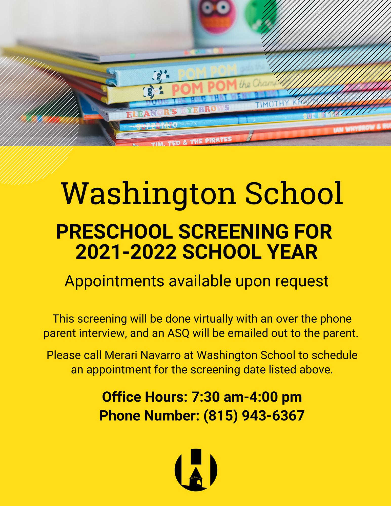 Washington Preschool Screening (English)