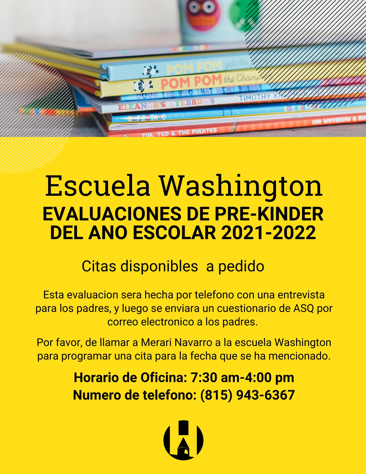 Washington Preschool Screening (Español)