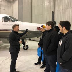 Students tour Fargo Jet Center