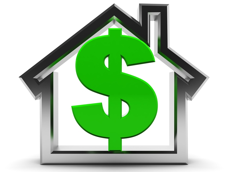 house dollar sign graphic