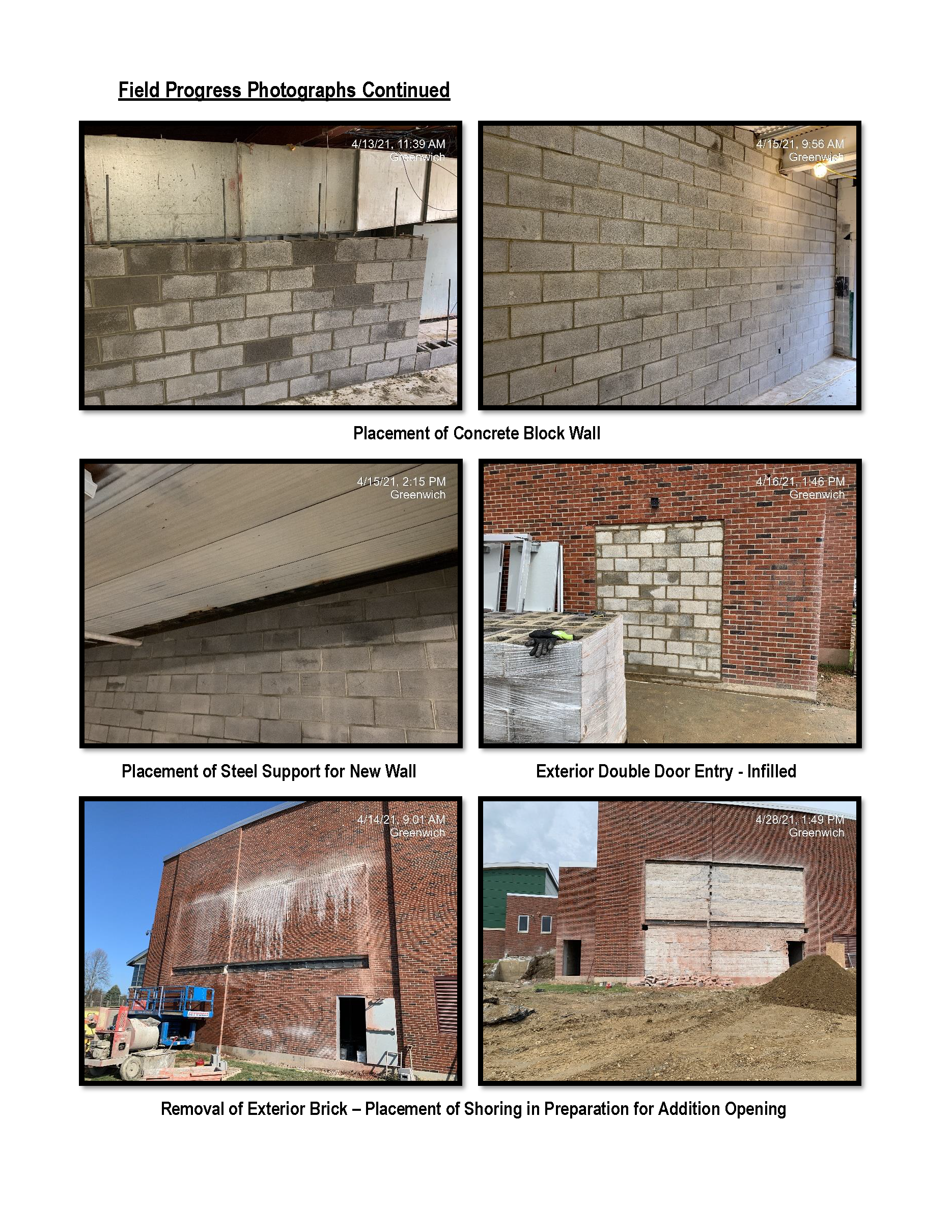 Capital Project Progress Report page 4 graphic