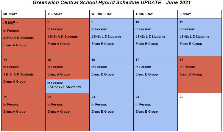 Hybrid Schedule graphic