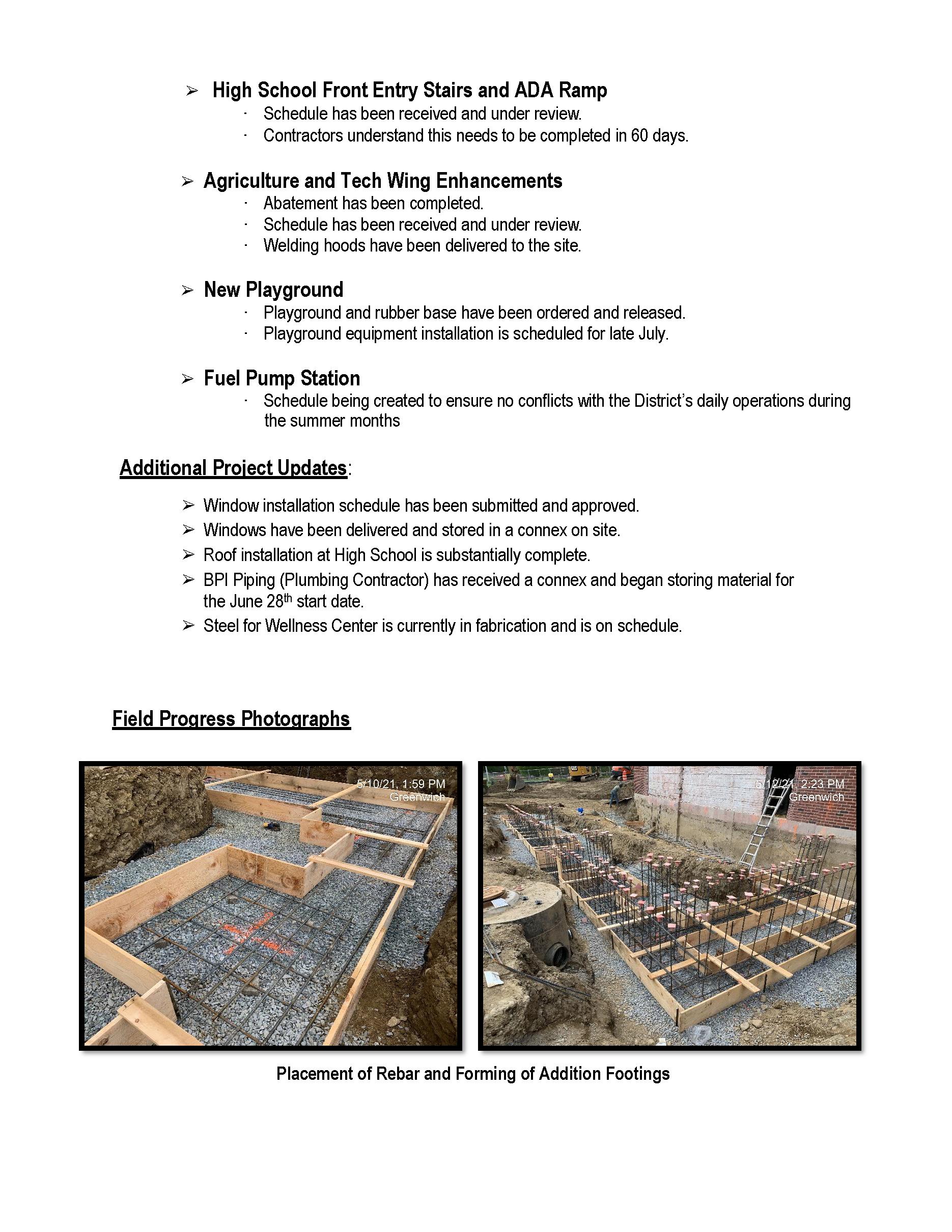 June Progress Report Page 2