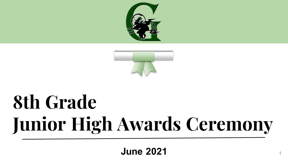 8th grade awards graphic and link