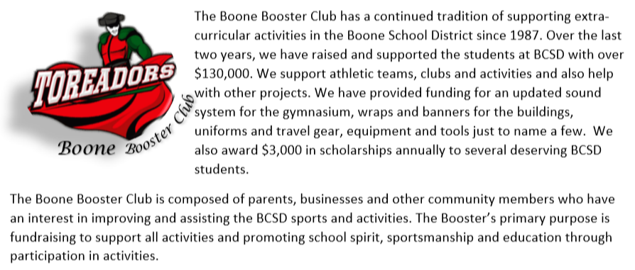 The Boone Booster Club