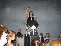 Mrs. Jennifer Leonard instructs students in the Star Lab.