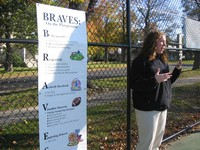 Students were taught Braves expectations for the playground.