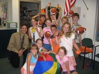 Principal Rob Lupisella and friends.
