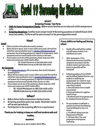 Covid 19 procedures - Students