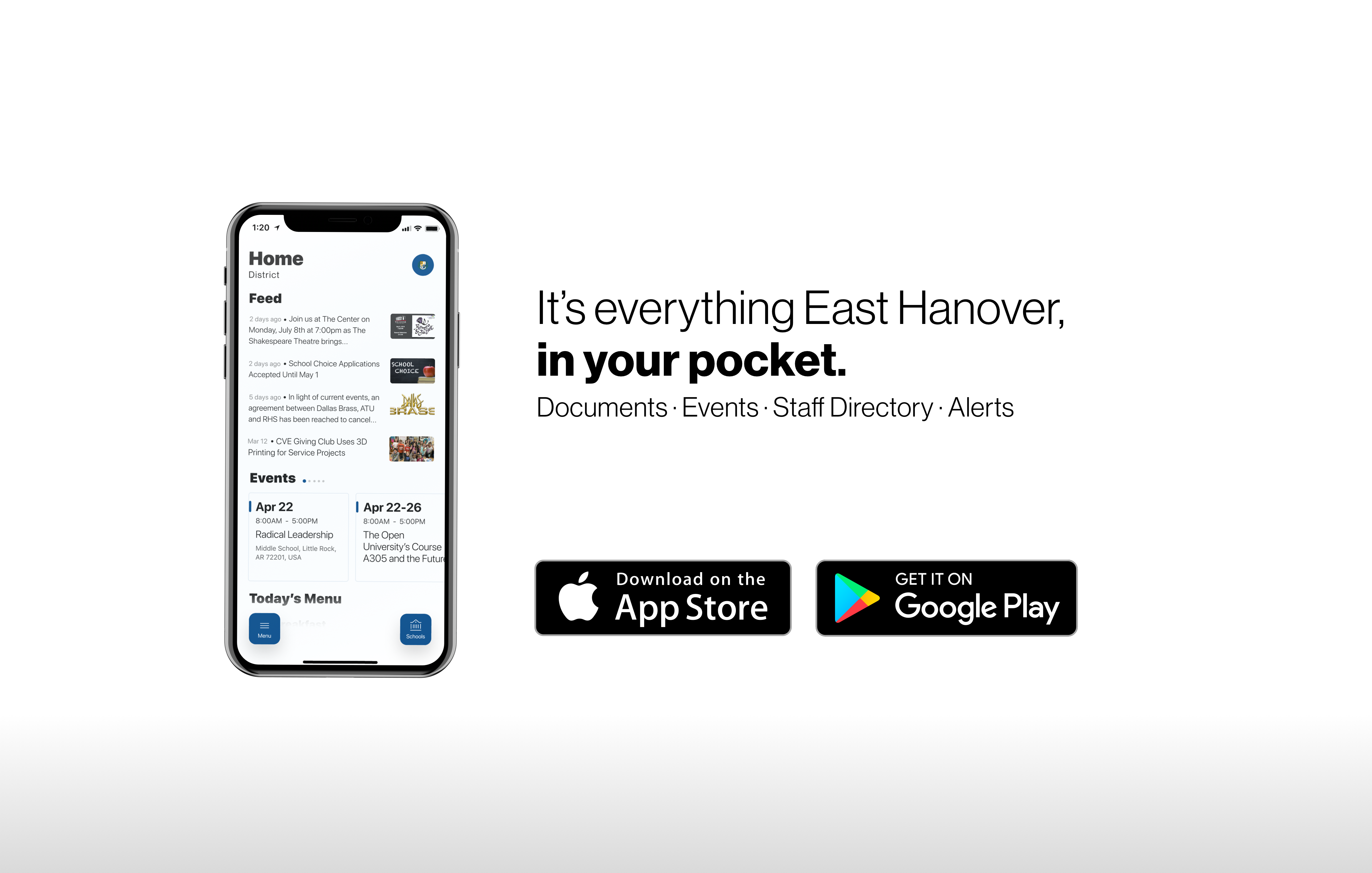 It's everything East Hanover in your pocket