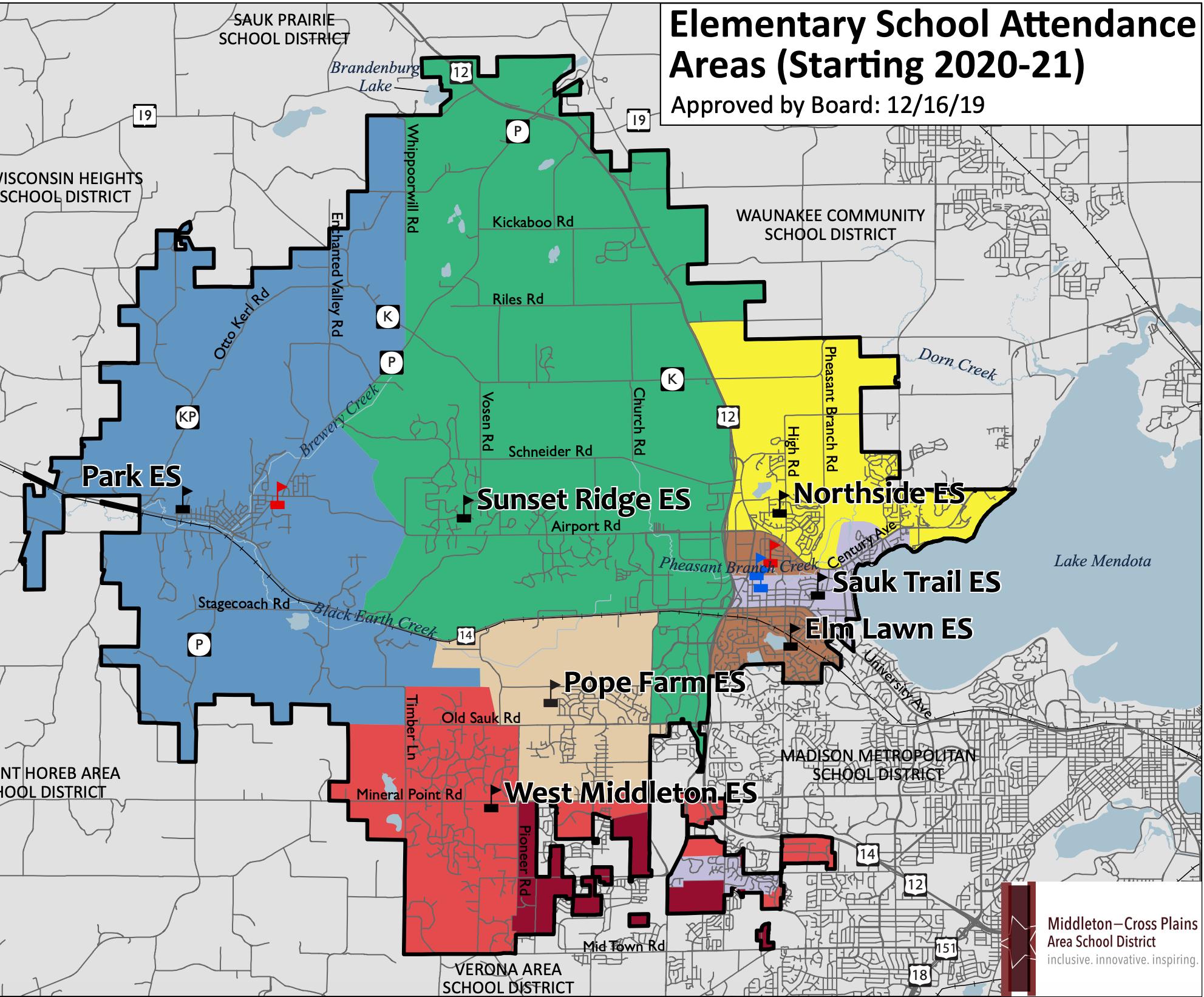 Attendance ooundary Map