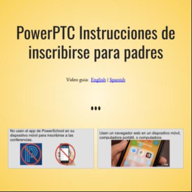 Image of Parent Teacher Conferences Instructions- Spanish