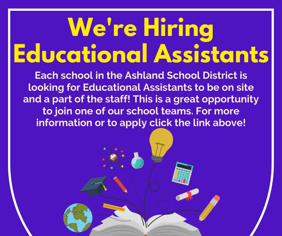 We're hiring educational assistants