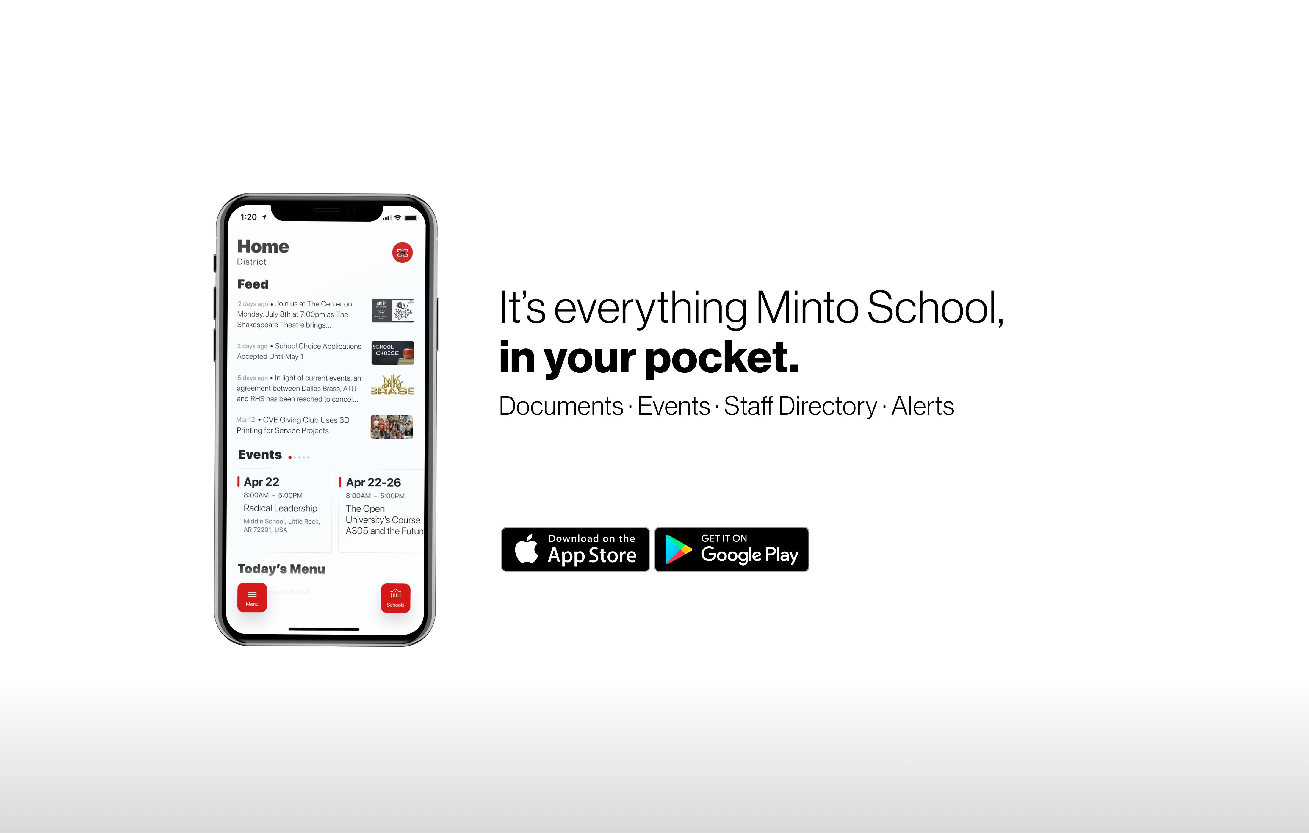 new school app