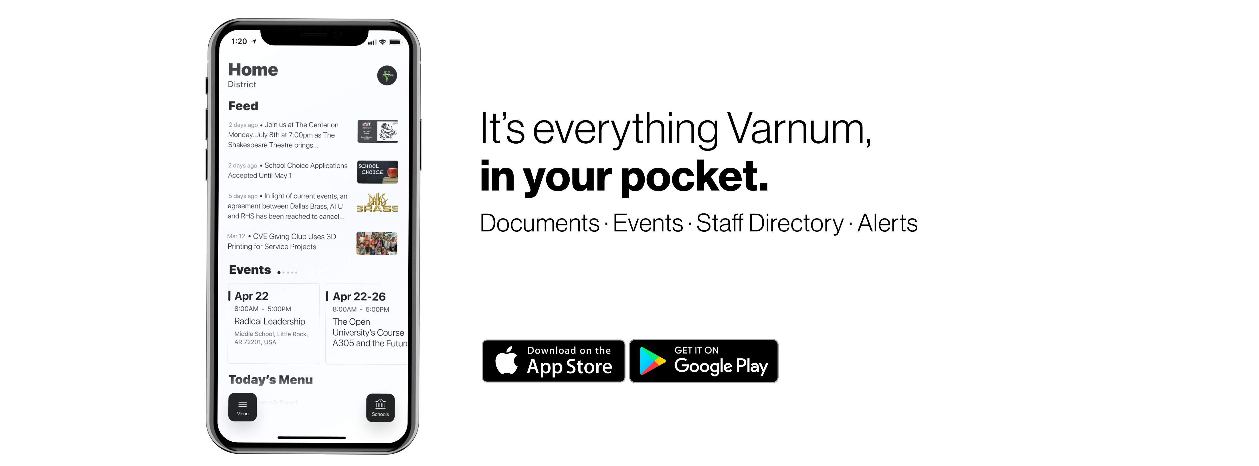 IT'S EVERYTHING VARNUM, IN YOUR POCKET.