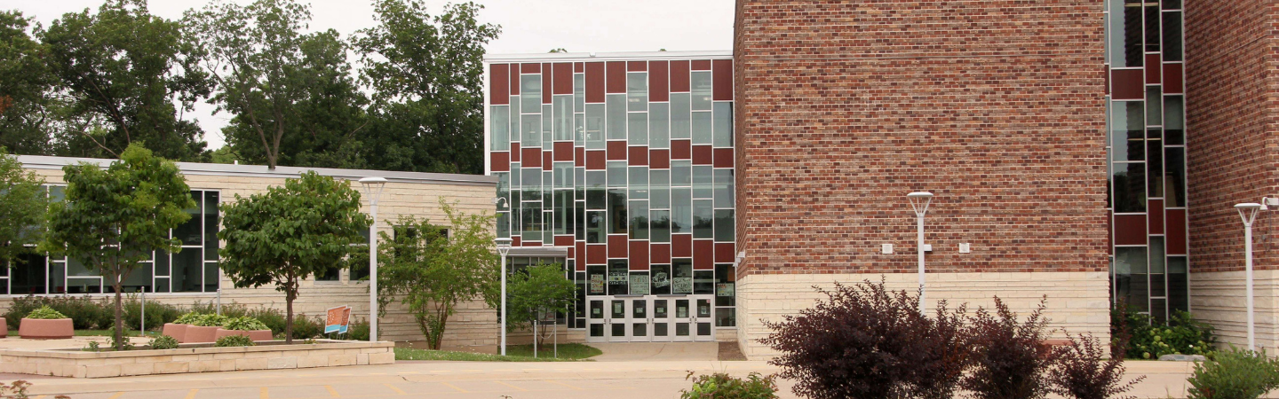 front of the Kromrey Middle School building
