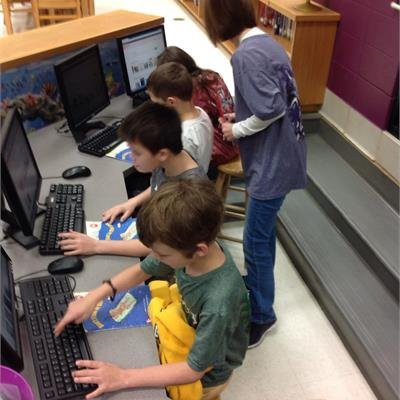 Parkside Students in the Library