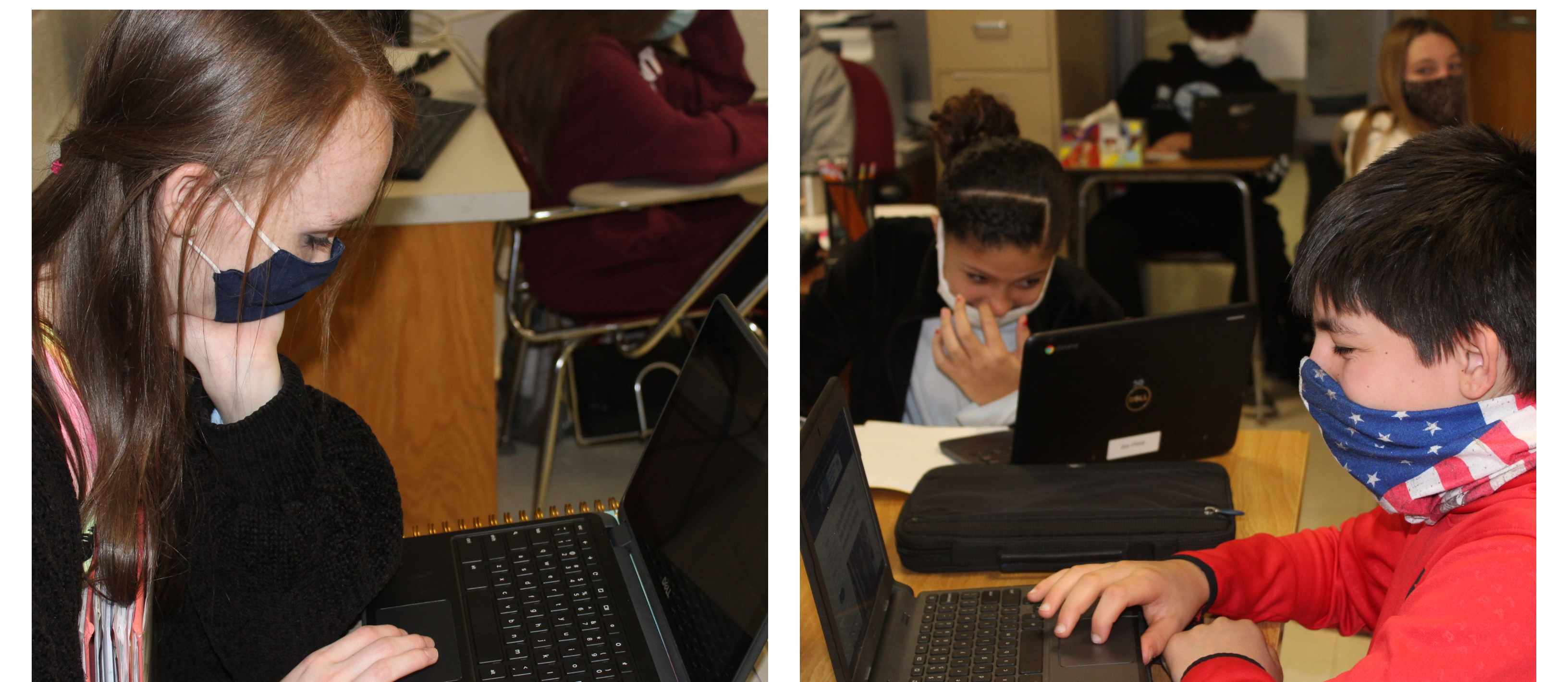 Students working on assignments