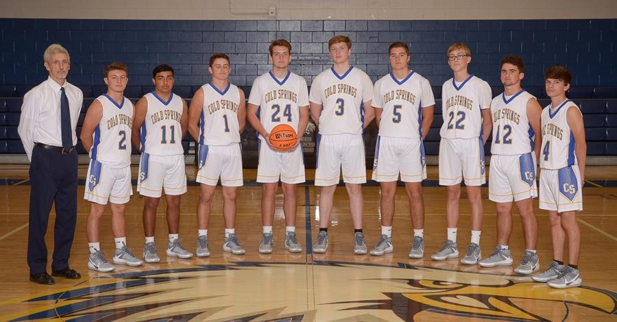 2020-21 Cold Springs Varsity Boys Basketball Team                                                                                     Tim Willoughby - Coach