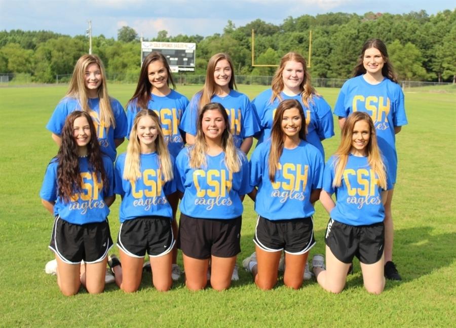 Cold Springs Varsity Lady Eagles Cheerleaders 2020-21         Cheer Sponsor: Mrs. April Burgess