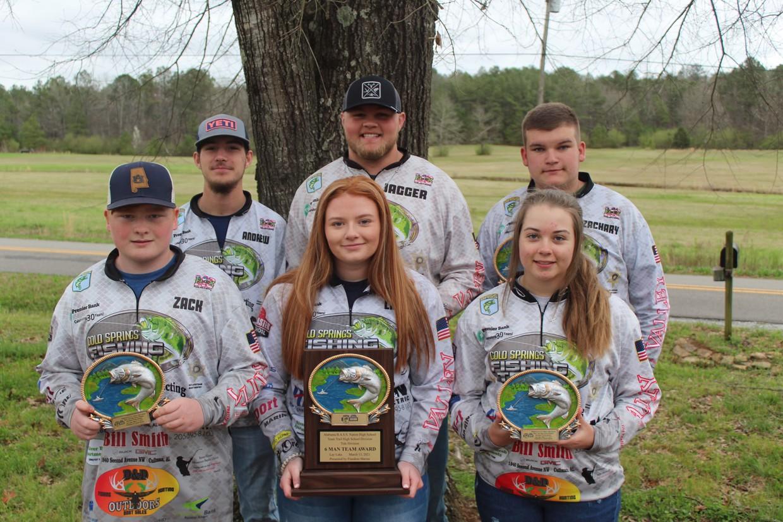 2020-21 Cold Springs High School Fishing Team