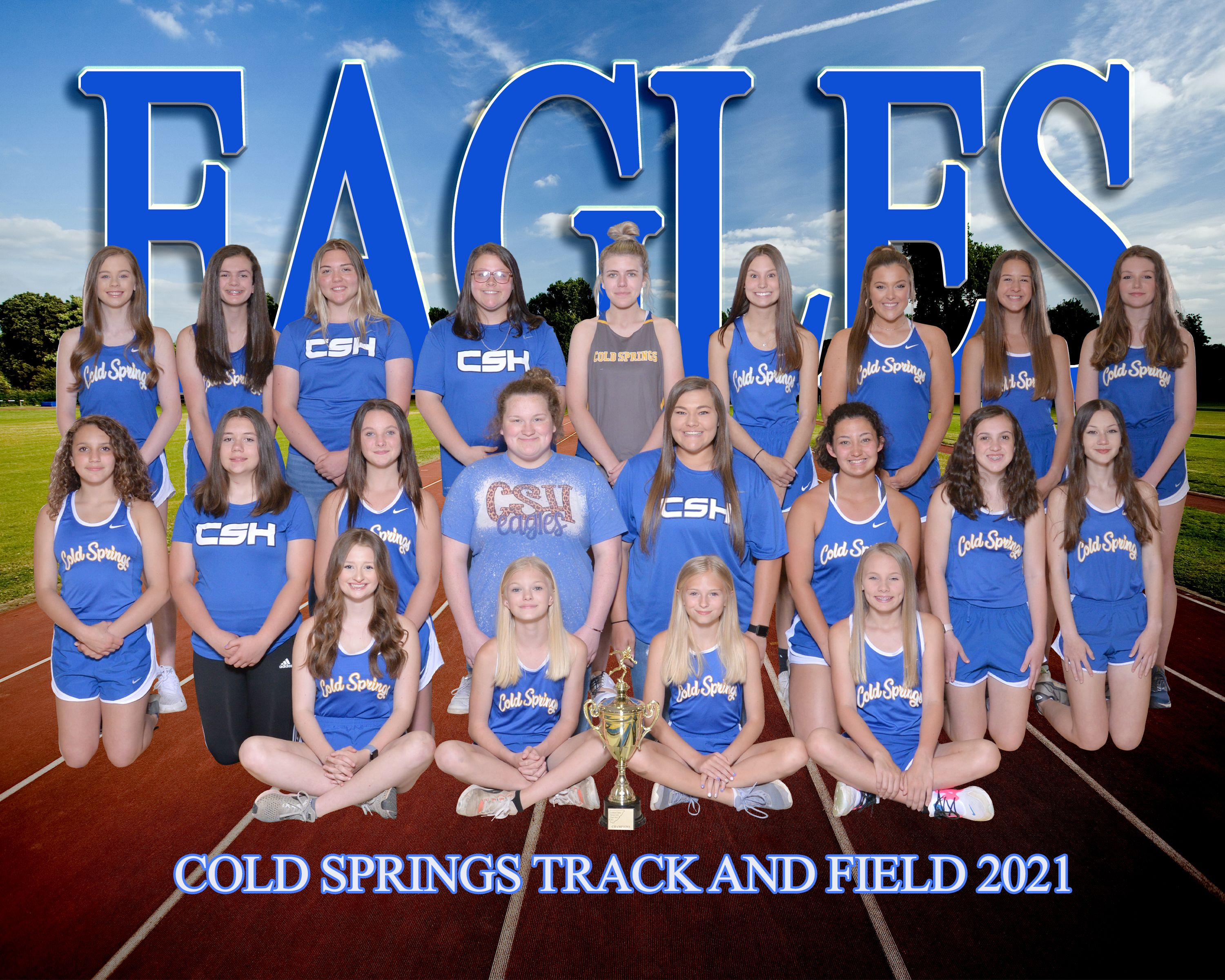 2021 Cold Springs Girls Track & Field Team